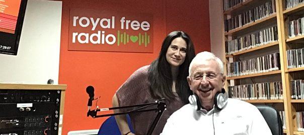 John and Genevieve in the Royal Free Radio studio